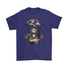 Baltimore Ravens Jack Skellington This Is Halloween NFL Shirts T-Shirt - Catsolo.com