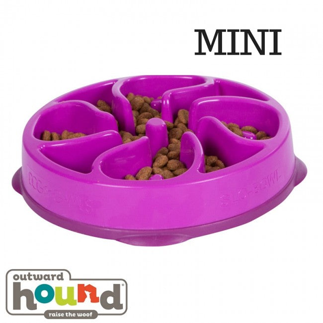Outward Hound Fun Feeder bowl Purple Mini - Pet Star