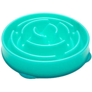 Outward Hound Fun Feeder Bowl Teal - Pet Star
