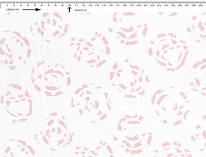 ARABIC FLOWER PRINT { WHITE-BEETLE PINK }  (Cambric)