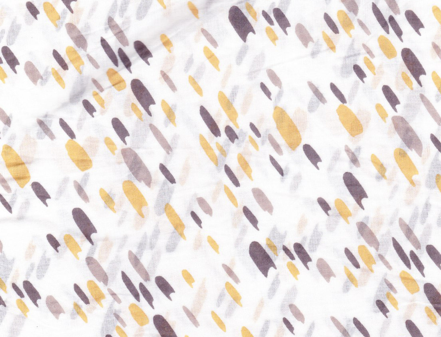 Honey Splash Print ( Yellow - Lt. Taupe - Black )  (Cambric)