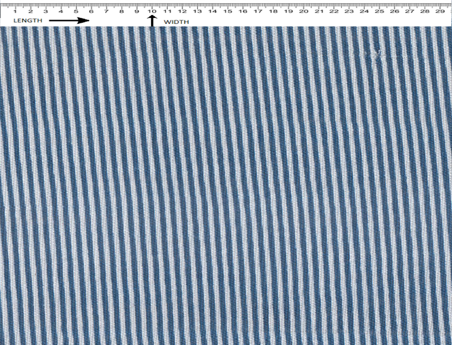 STRIPE PRINT [ WHITE-BLUE] (Khadi)