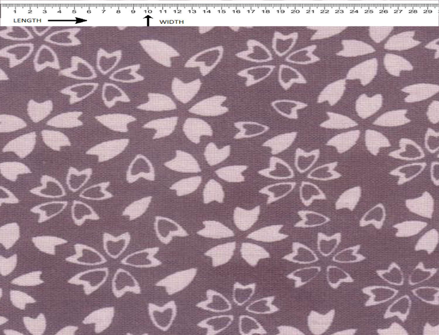 Yarn Dyed Chambray  ( MINI GARDEN PRINT ) ( WHITE-PURPLE )
