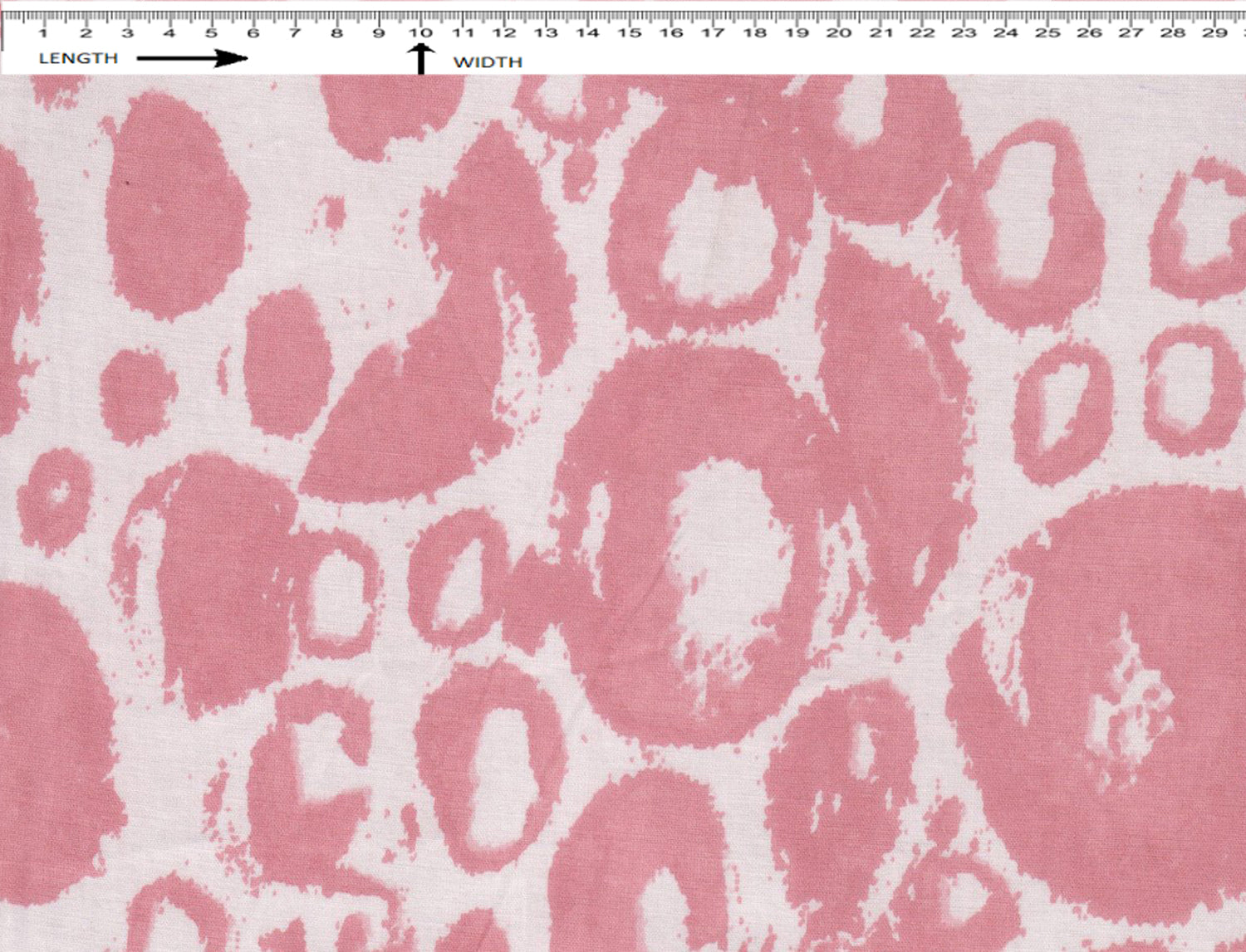 BUBBLE PRINT{ SUN WHITE-LIGHT PINK}  (Cambric)