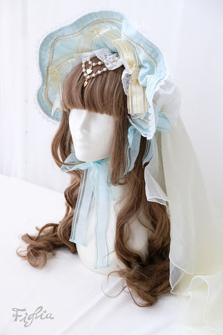 H0130 Princess Theresia Veil Bonnet