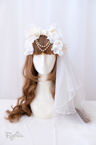 H129 Princess Theresia Veil Headband