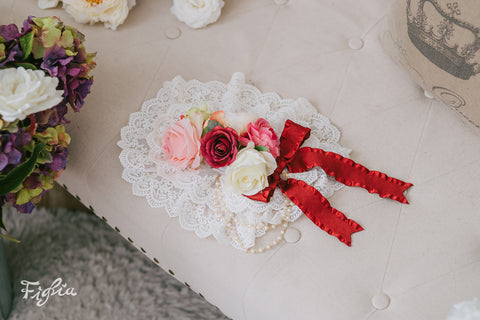 H132 Camille in Love Flower Lace Headdress