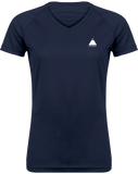 Tee Shirt Trail Running Femme Col V Navy / XS pour le Trail et le Running par Tunetoo