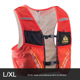 Gilet d'hydratation C933 5L par AONIJIE LXL Orange Strendly Trail & Running