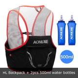 Gilet d'hydratation Sense 2 par Aonijie 2,5L C932 ML Noir et rouge Set Strendly Trail & Running