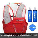 Gilet d'hydratation Sense 2 par Aonijie 2,5L C932 ML Orange Set Strendly Trail & Running