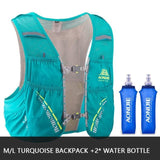 Gilet d'hydratation C933 5L par AONIJIE ML Turquoise 2 flasques Strendly Trail & Running