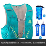 Gilet d'hydratation C933 5L par AONIJIE Turquoise complet Strendly Trail & Running