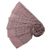 Mauve Leaf Outline Design Scarf