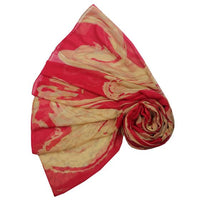Red Marble Design Scarf
