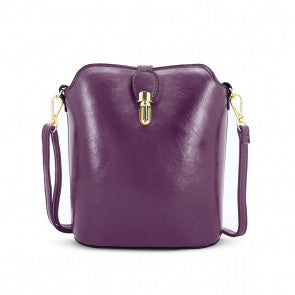 Over The Shoulder Hand Bag Purple