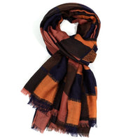 Orange squares Design Scarf