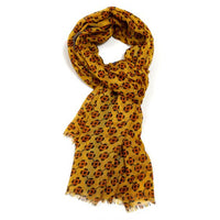 Mustard Little Flowers Design Scarf