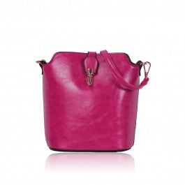 Over The Shoulder Fuchsia Hand Bag