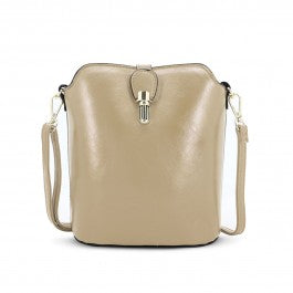 Over The Shoulder Light Gold Hand Bag