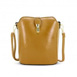 Over The Shoulder Mustard Hand Bag