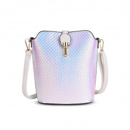 Over The Shoulder Silver White Hand Bag