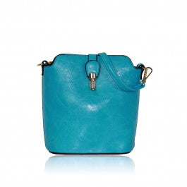 Over The Shoulder Teal Hand Bag