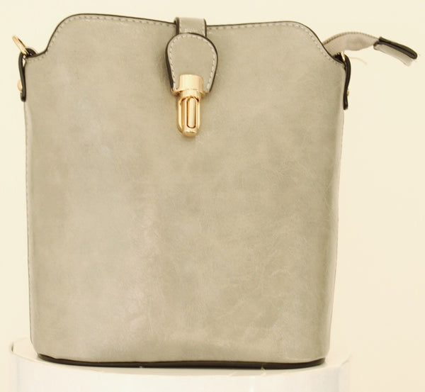 Over The Shoulder Light Grey Marl Hand Bag