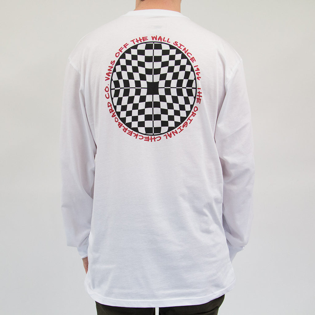 38c6119e7c64 Vans Checkered Long Sleeve Tee White - FoundationBMX