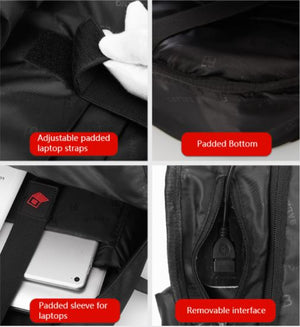 BaLang Waterproof Laptop 15.6 inch USB Port Backpack