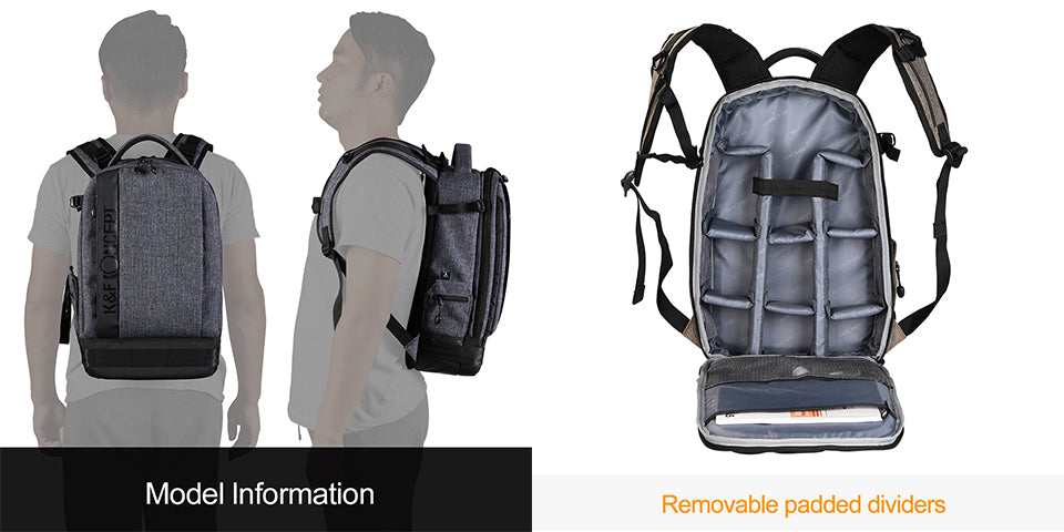 K&F CONCEPT Waterproof Camera Large Backpack