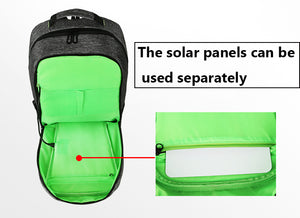 BAIBU Waterproof Solar USB charging Anti-Theft 15 inch Laptop Backpack