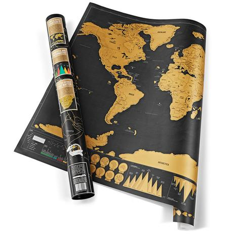 Deluxe Traveller Scratch-Off World Map 12x17inch
