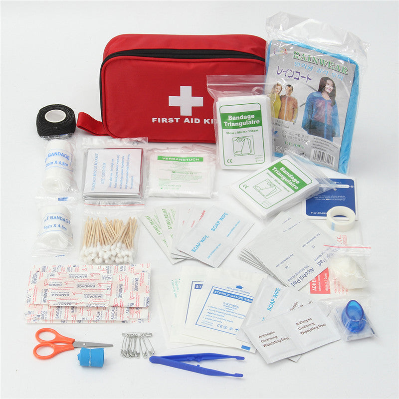 180pcs Outdoor Wilderness Survival First Aid Kit