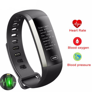 R5MAX Smart Fitness Display Blood Pressure Heart Rate Monitor Blood Oxygen Watch
