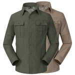 CavalryWolf Quick Dry Waterproof Outdoor Hiking Shirt