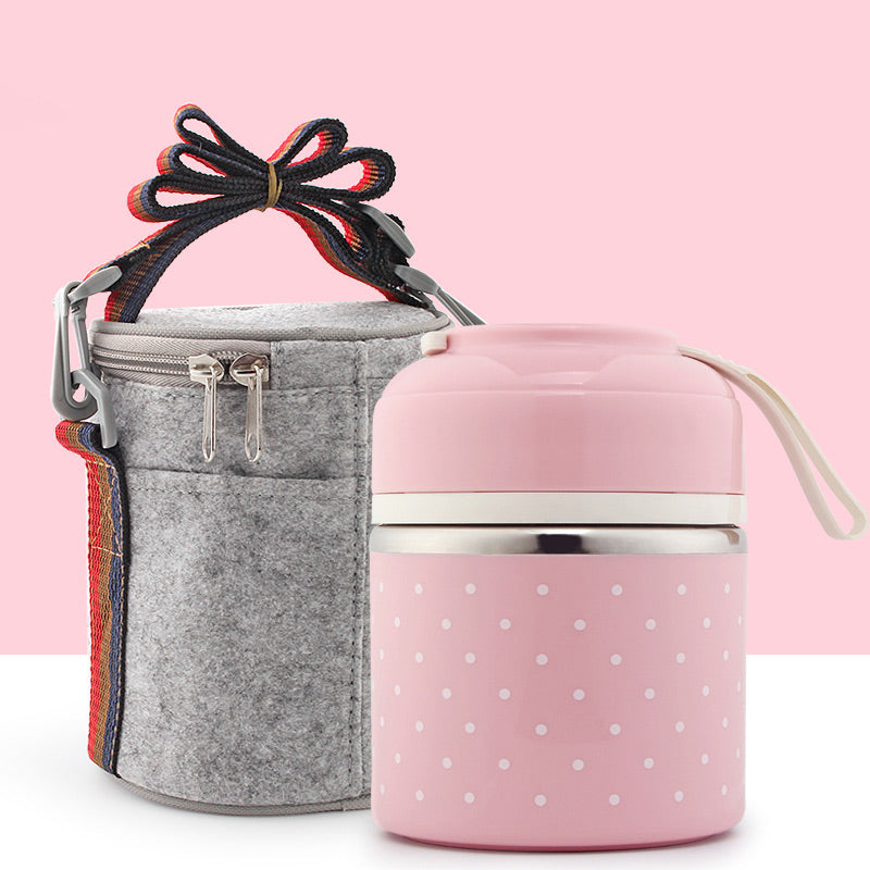 Leak-proof Portable Thermal Stainless Steel Lunch Box