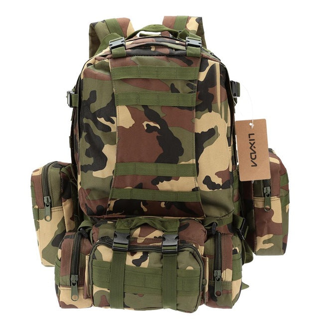 Lixada 50L Military Tactical Rucksack Sports Travel Bag