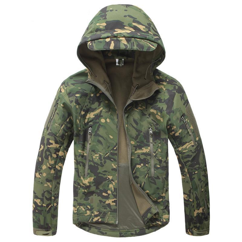 Military Waterproof Windproof Hooded Camo Army Jackets