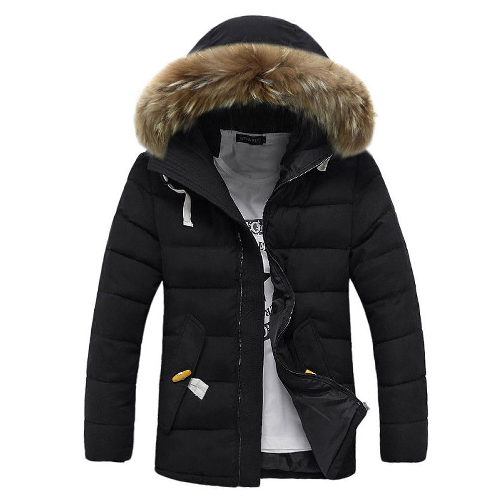 Wolfenroad Winter Thick Fur Hooded Parka