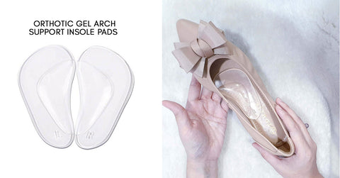 Orthopedic gel arch support insoles pads