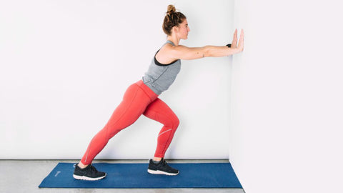 Straight Knee Wall Stretch
