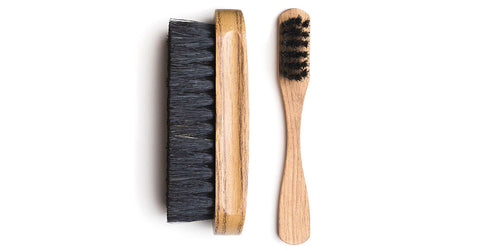 Get a suede brush