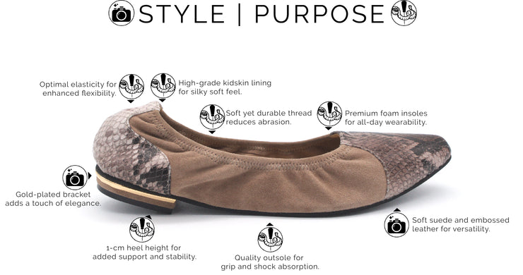 brown flats for travel
