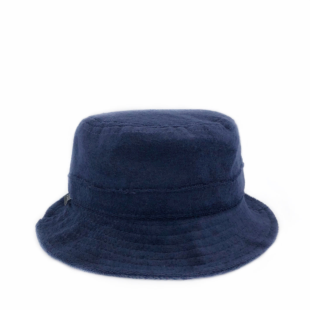 fini. terry bucket hat - navy blue