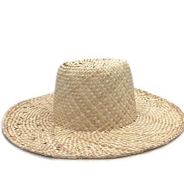 fini. palm hat - natural (adult size left only)