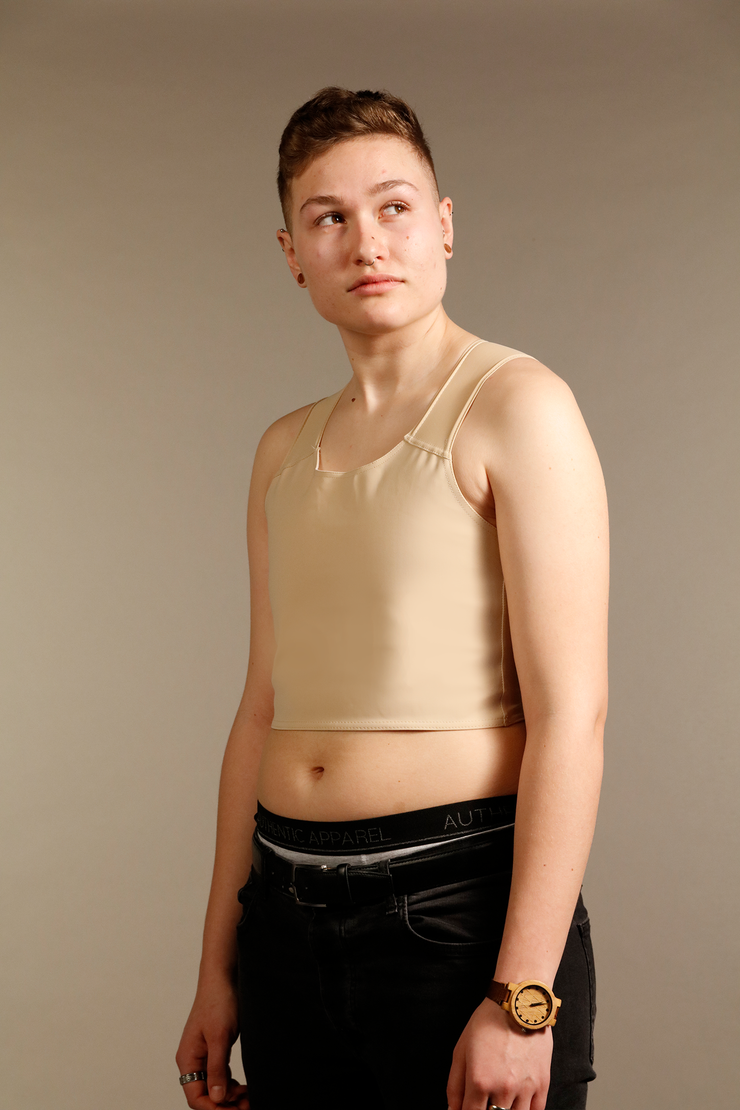 Cream Short Chest Binder