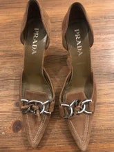 Prada tan buckle shoes