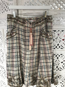 Matthew Williamson tweed skirt small
