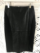 Reiss leather/ Jersey pencil skirt